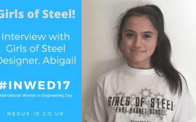 International Women in Engineering Day: Interview Girls of Steel Designer, Abigail