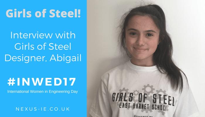 Interview with Girls of Steel Designer, Abigail