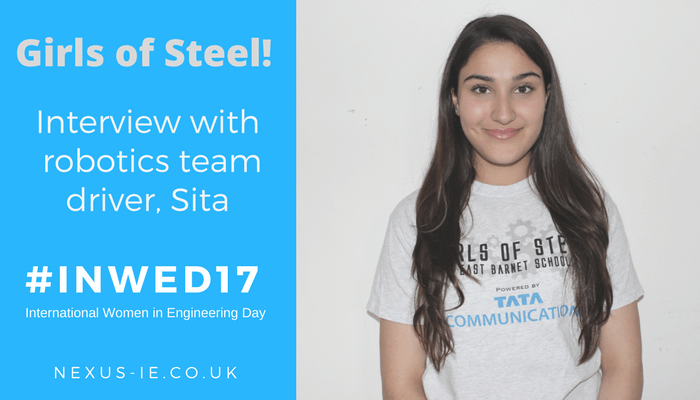 International Women in Engineering Day: Interview with Robotics Team Driver, Sita